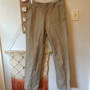 Bonobos Khaki Slim Straight Washed Chinos